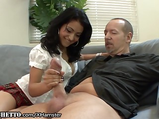 Muted Latina Schoolgirl Wants Elderly Teachers Dick
