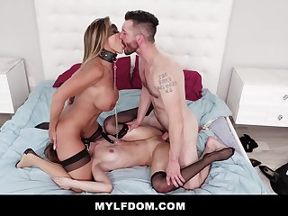 MYLFDom - Dominating Old lady increased by Young Pet Schoolgirl With Rough Getting Laid