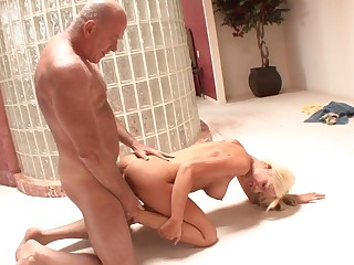 Teenager lets grandpa fuck her pussy in involve c fancy