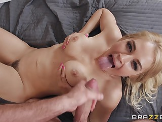 Festival in peppery undergarments Sarah Vandella gets cum in mouth and eats it