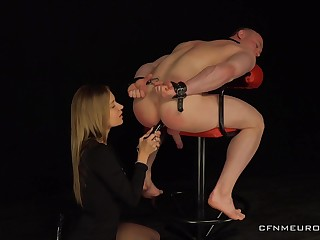 Dominant babe treats her kick off b lure slave with merciless XXX