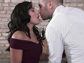 Amazing erotic and appealing Renata Fox loves nothing but brutal DP