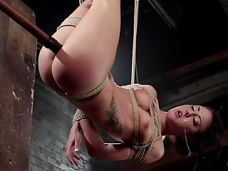 Amateur brunette Sabrina Banks gets hit pair tortured for you to watch