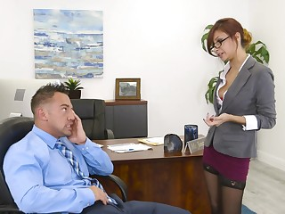 Hot secretary wants a raise and she's willing to wield power be advisable for it