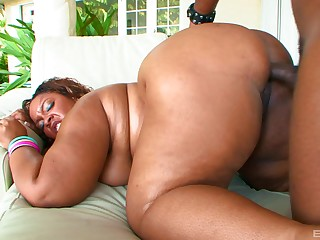 Mad about a chubby ebony and jizz those electrifying tits