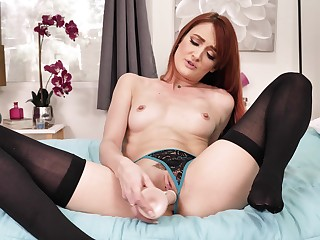 Erotic taboo JOI with blazing red-haired older woman Andi Rye