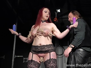 Bootylicious redhead flatland stockings Kitty is accessible for some bondage