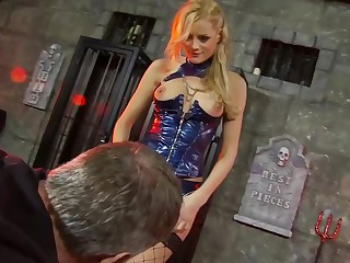 Smashing blonde woman close to erotic lingerie, Chloe Conrad got a dick up her tight botheration