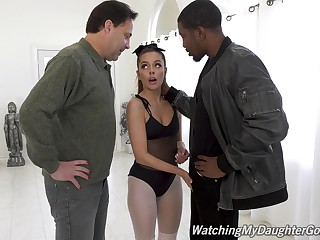 Hot funereal guy Isiah Maxwell fucks white chick Vanna Bardot in front of her stepdad