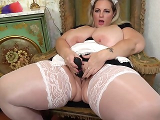 Sophia Lola is a fat, blonde jail-bait who is at any cost every single opportunity to masturbate a bit
