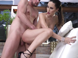 Good-looking anal for the premium brunette in arbitrary XXX