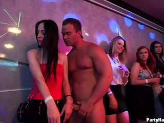 Couple of actress strippers get unwitting and fuck a lot of hotties