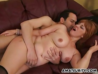 Bosomy Amateur Sex Wife Sucking And Fucks