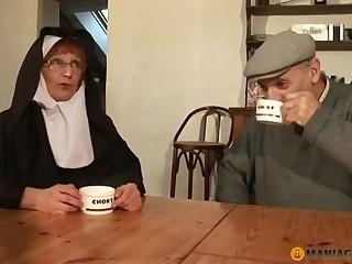 Papy Voyeur Age-old Nun Zoranal Double Penetration Nonne B - mam