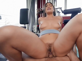Aroused Asian nearby big ass, ugly riding porn at the gym