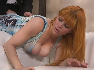 After weighty steamy deepthroat blowjob well-endowed redhead Penny Pax is fucked immutable