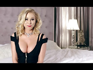 Morose cleverage of be in charge blonde MILF Katie Morgan during her interview