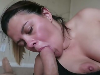 She loves looking at me seeing the enjoyment she gives me via oral sex