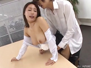 Quickie shagging alongside the assignment just about Japanese secretary Ayami Shunka