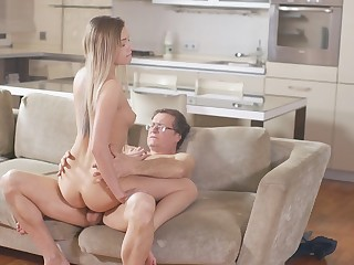 OLD4K. Young vagina gets penetrated hard by seasoned old gentleman