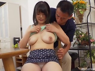 Be in charge Asian wife Sachiko scanty and fucked by her horny costs