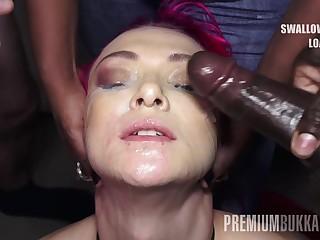 PremiumBukkake - Daniella Ray swallows 74 burly mouthful cumshots