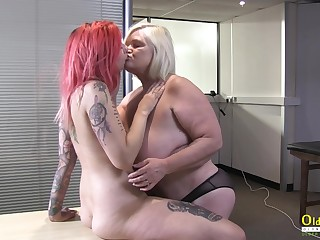 OldNannY British Mature and All the following are Striptease