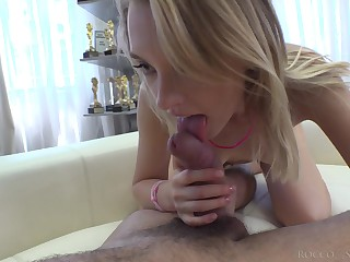 Tow-headed with petite butt Lily Ray takes a hard big cock in parsimonious botheration hole