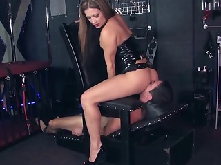 The dominatrix with the addition of the submissive man ...