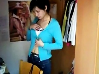 Beautiful Chinese girl home shooting