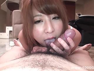 Nice asian POV blowjob hardcore