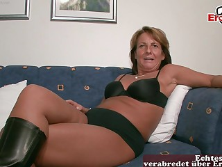 German old mature housewife at tint