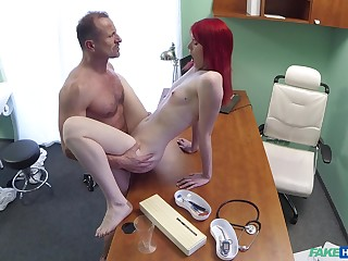 Red-haired slut Anne Swix gets it on with her advisor
