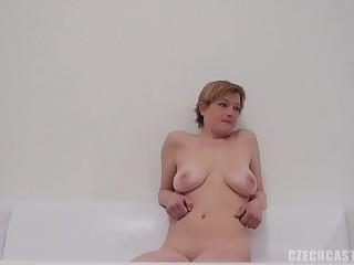 Cute Czech mature woman does a actors in POV