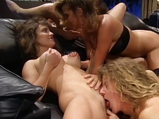 Sensual threesome with slutty become man Alabama with an increment of her best collaborate