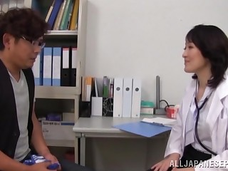 Passionate fucking involving cowgirl and missionary to a Japanese nurse