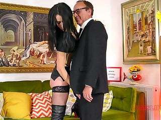Provocative model Monica in hibernate with an increment of high heels enjoys having sex