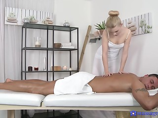 Erotic massage leads to flawless sex and cum on feature