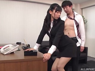 Amazing fucking in rub-down the office with handsome secretary Kurokawa Sumire