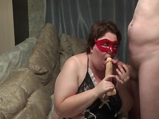 Russian Amateur Bbw No way Dildo While Get Fucked