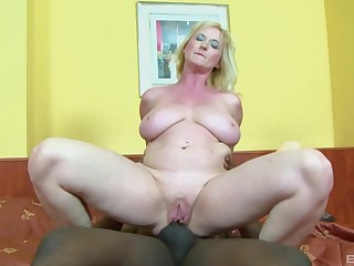 Busty mature wife Monika Wipper enjoys having anal sex involving a BBC