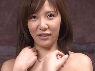 Gorgeous babe Hirai Nanako strips down together with unveils their way sexy body