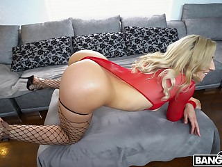 Blonde beauty is ready for a shooting anal shag